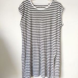 Eileen Fisher organic linen tunic cover up striped